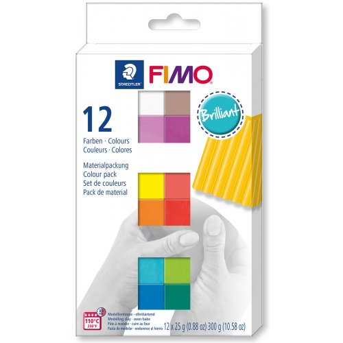 FIMO Soft sada 12 barev 25 g BRILLIANT