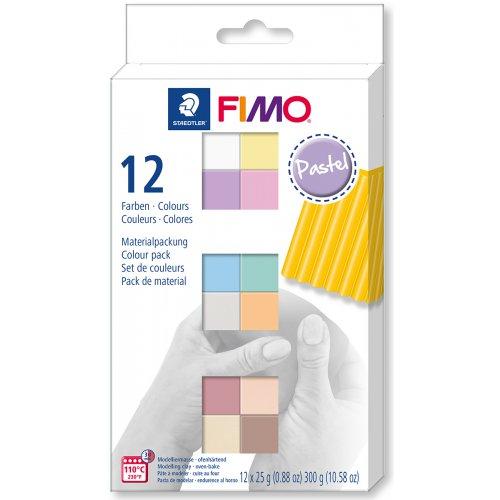 FIMO Soft sada 12 barev 25 g PASTEL
