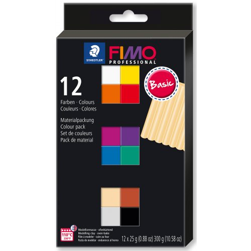 FIMO professional sada 12 barev 25 g BASIC