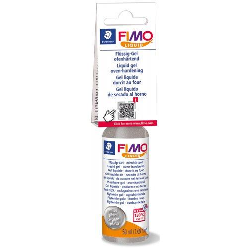 FIMO LIQUID Deco gel STŘÍBRNÝ 50 ml
