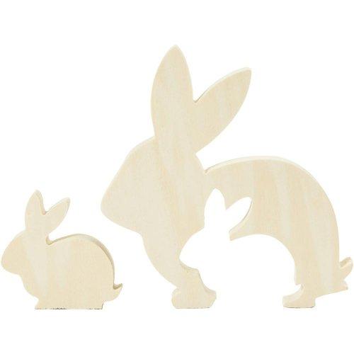 2v1 Dřevěné figurky - motiv králík
