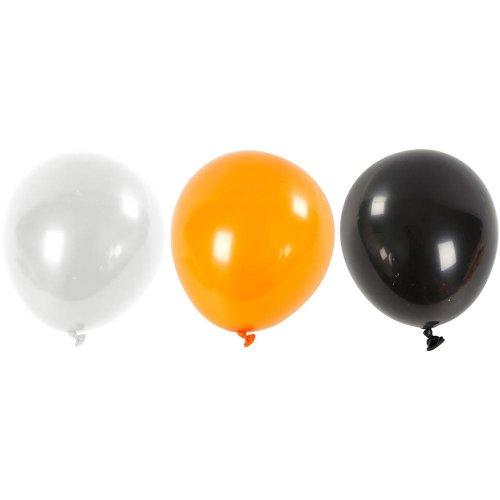 Balonky, bílý, oranžový, černý,