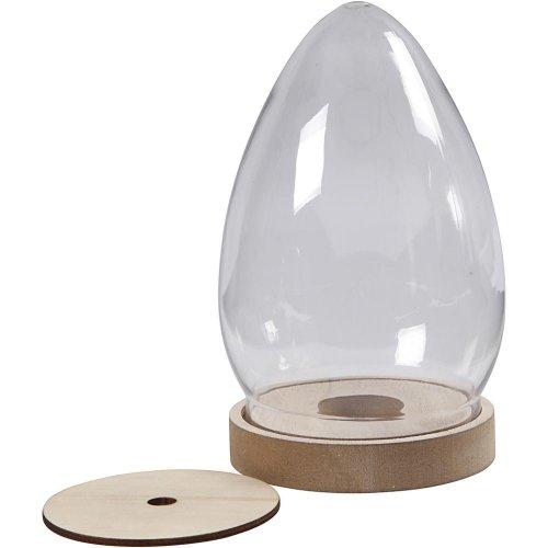 Plastový kryt ve tvaru vejce - stojan