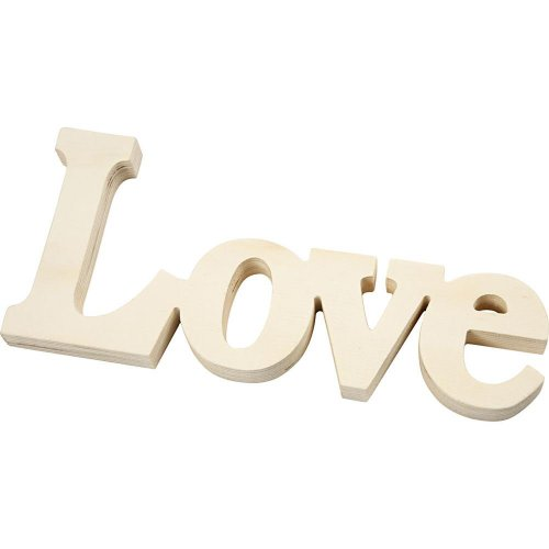 Dekorativní nápis LOVE, velikost 23 x 10 cm, tloušťka 15 mm