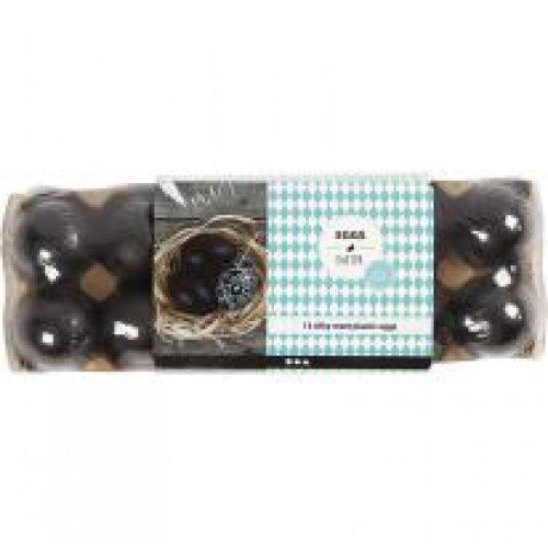 Černá plastiková vejce - 12 ks v balení - CC51025_b.jpg