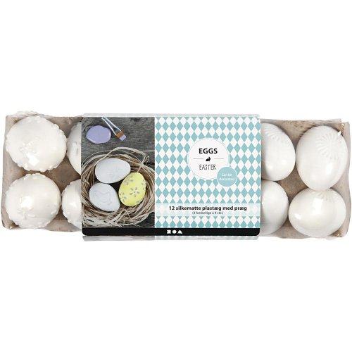 Vajíčka bílá se vzory - 12 ks v balení - CC51026_c.jpg
