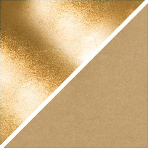 Papírová imitace kůže, šířka 50 cm - ZLATÁ - CC498948_b.jpg