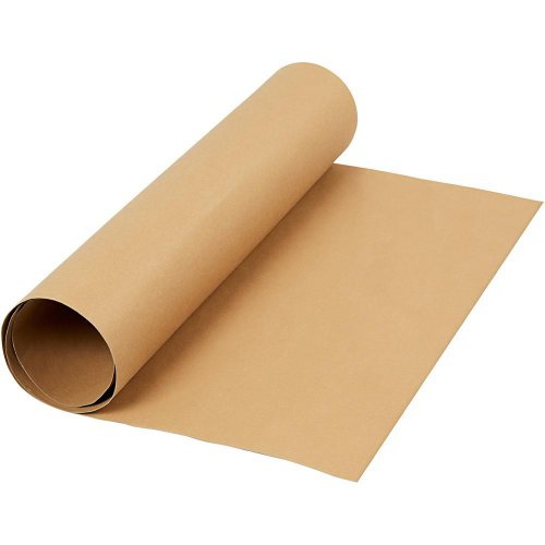 Papírová imitace kůže, šířka 50 cm - SVĚTLÁ HNĚDÁ