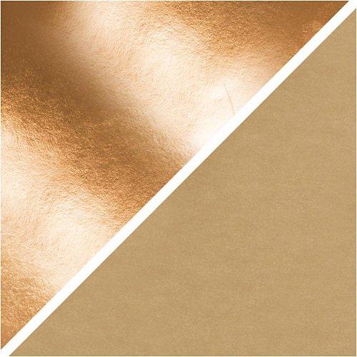 Papírová imitace kůže, šířka 50 cm - RŮŽOVOZLATÁ - CC498949_b.jpg