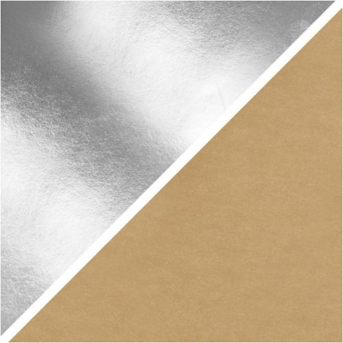 Papírová imitace kůže, šířka 50 cm - STŘÍBRNÁ - CC498947_b.jpg
