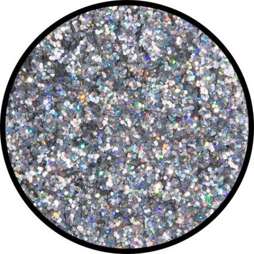 Třpytky 6 g - Stříbrná holografická střední