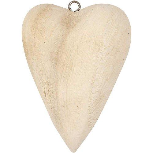 Dřevěné srdce s očkem na zavěšení