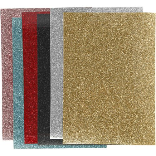 Nažehlovací třpytivé fólie na textil - mix barev