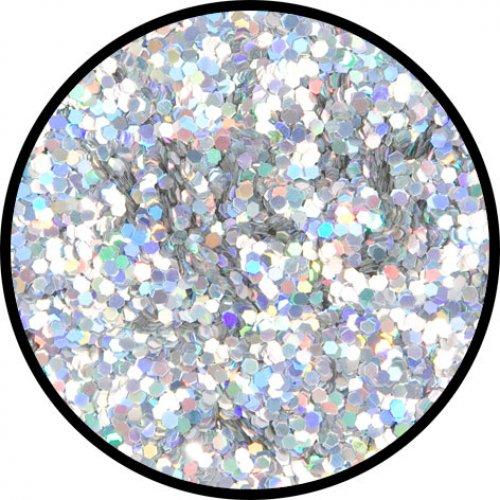 Třpytky 2 g - Stříbrná holografická hrubá