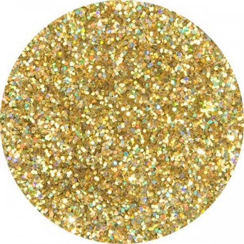 Třpytky 2 g - Zlatá holografická - střední