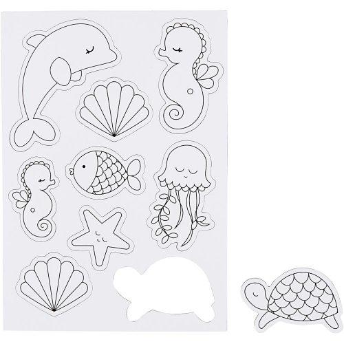 Magnety s předtištěnými motivy - mořští tvorové