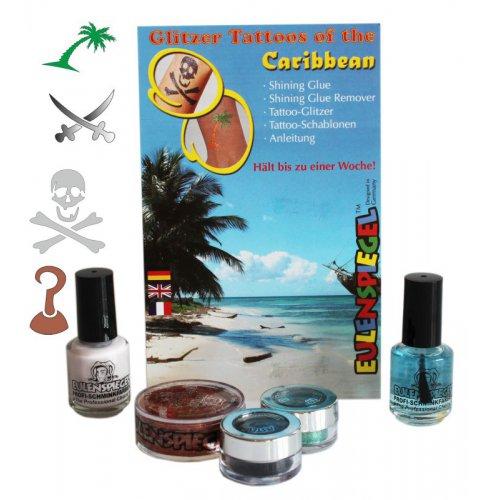 Tetovací třpytivé sady - Sada Karibik