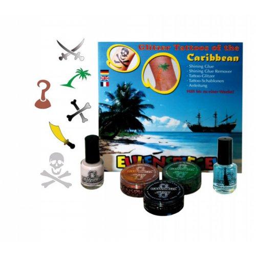 Tetovací třpytivé sady - Sada Karibik XL