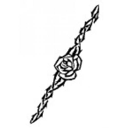 Přenášecí archy s motivem - Pás růží s trním