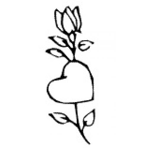 Přenášecí archy s motivem - Srdce s růží