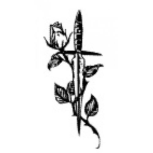 Přenášecí archy s motivem - Růže s dýkou