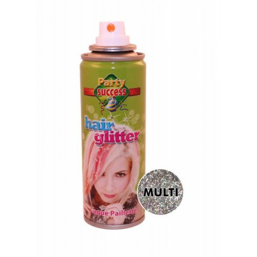 Třpytky na vlasy ve spreji 125 ml - Vícebarevná třpytivá