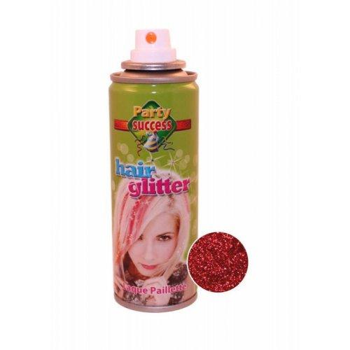 Třpytky na vlasy ve spreji 125 ml - Červená třpytivá