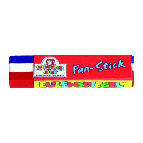 Barva na tvář pro fanoušky - BÍLÁ - MODRÁ - ČERVENÁ
