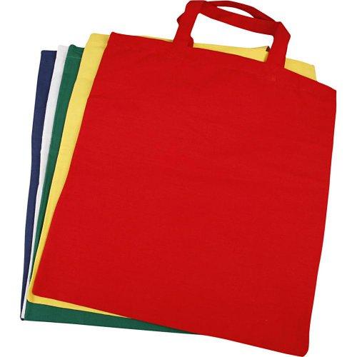 Nákupní tašky barevné - sada 5 barev
