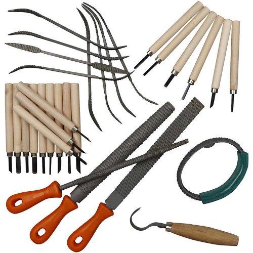 Sada řezbařské nástroje na měkké materiály