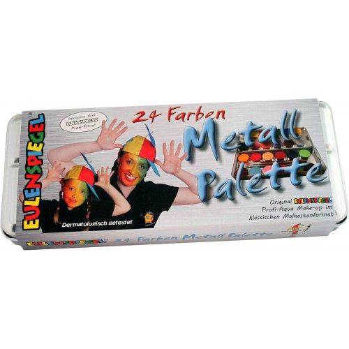 Sada 24 barev v kovové paletě