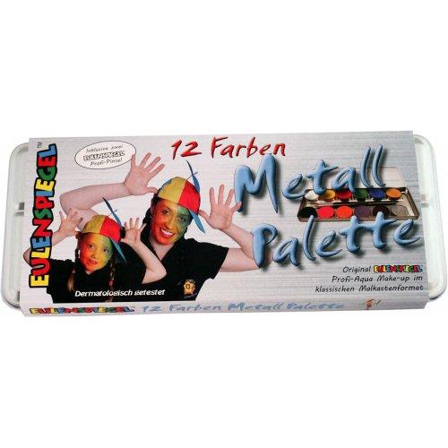 Sada 12 barev v kovové paletě