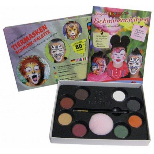 8ks barev v paletě  - Barvy na zvířecí masky