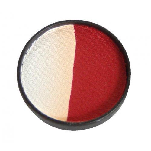 Split cake 3,5 ml - Bílá-rubínově červená