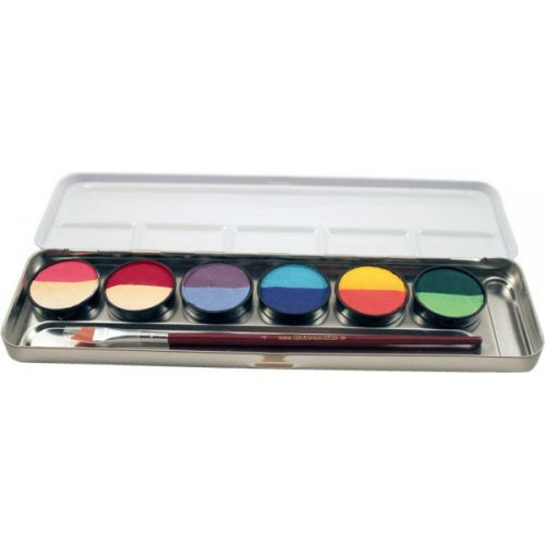 6 =12 barev v kovové paletě Split cakes