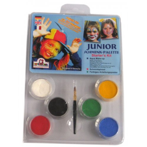 Junior Make-up - 6 barev v paletě s instrukcemi
