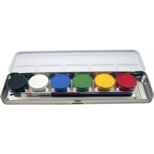 Sada 6 barev v kovové paletě