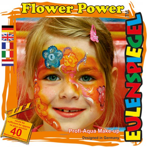 Sada barev na obličej - Síla květin