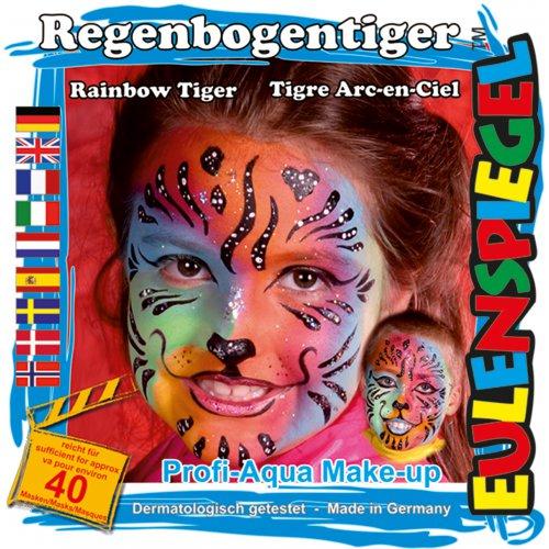 Sada barev na obličej - Duhový tygr