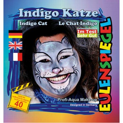 Sada barev na obličej - Kočka Indigo
