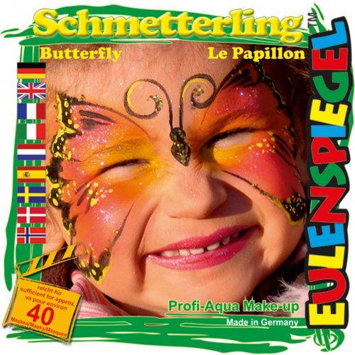 Sada barev na obličej - Motýl