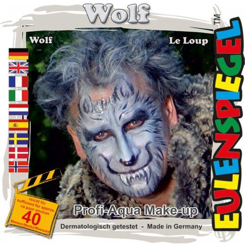 Sada barev na obličej - Vlk