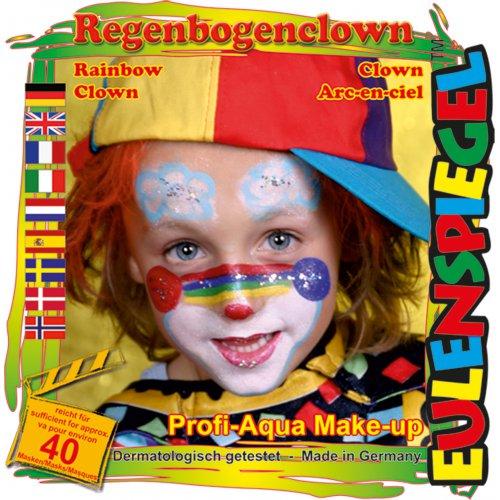 Sada barev na obličej - Duhový klaun
