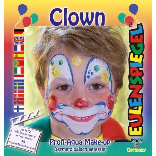 Sada barev na obličej - Klaun