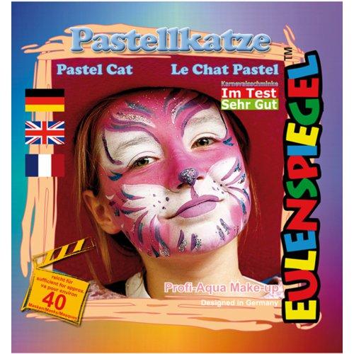 Sada barev na obličej - Pastelová kočka