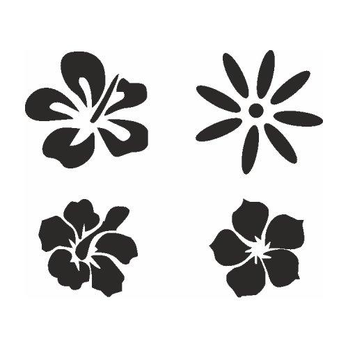 Samolepící šablony sady - Kouzelné květiny