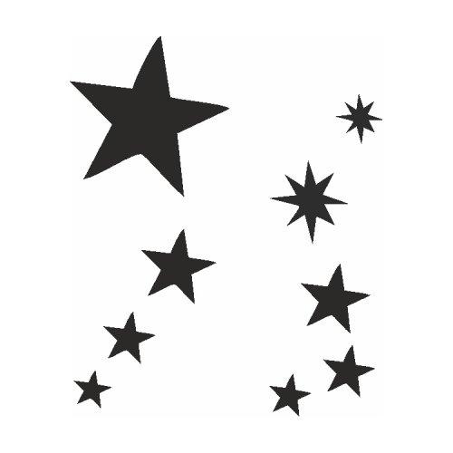 Samolepící šablony sady - Hvězdy