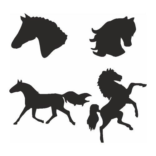 Samolepící šablony sady - Koně