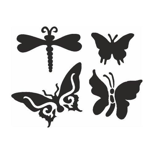 Samolepící šablony sady - Motýli