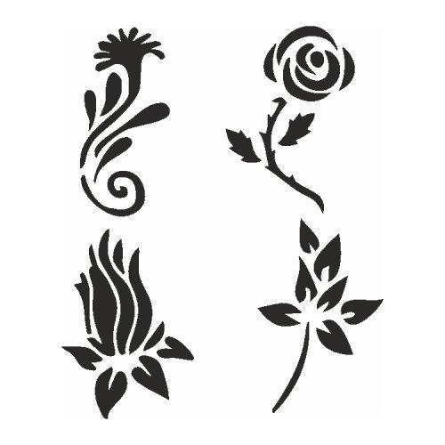 Samolepící šablony sady - Květiny